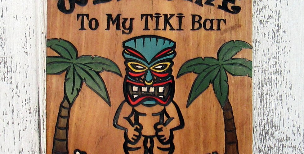 Tiki Bar Sign, Custom Beach or Pool side Decor, B107