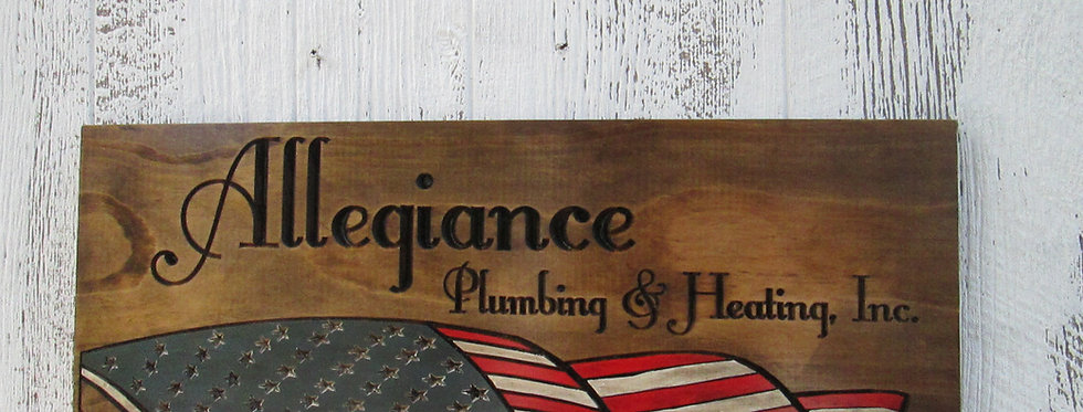 Custom American flag Sign, Patriotic Family Name Camping or Home Sign, FLAG101