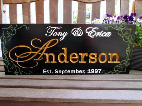 Custom last name sign anniversary gift e mysite