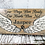 Thumbnail: Your Wings were Ready Pet Memorial Sign, Custom Remembrance Sign, MER101