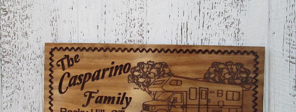 RV Camper Sign, Custom Camper Sign, Family Campsite Sign, C110