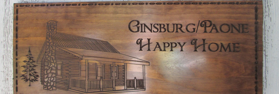 Custom Cabin Sign, Family Name Sign, Carved Wooden Sign, C107