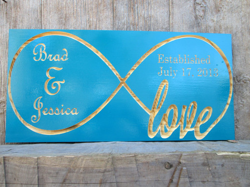 Infinity Symbol Last Name Sign Anniversary Date Sign