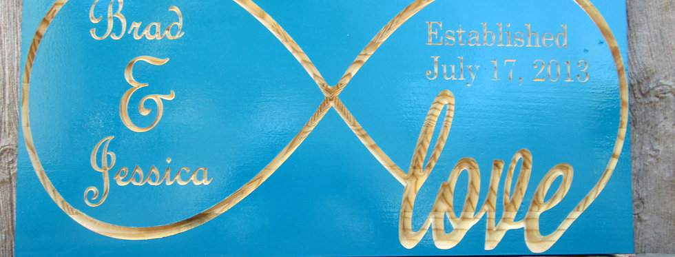Infinity Symbol Last Name Sign, Anniversary Date Sign, E102