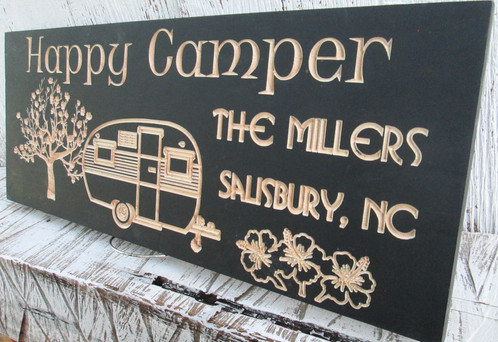 Custom Happy Campers Sign We Have Several Colors To Choose From And With Your Text This Will Make The Perfect Hang At Next Campsite
