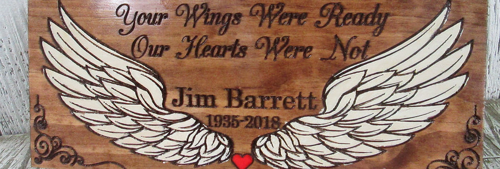 Your Wings were Ready Memorial Sign, Custom Remembrance Sign, MER100
