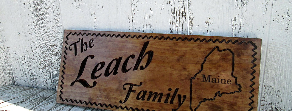 Camping Sign with Home State, Personalized last name Sign, C126