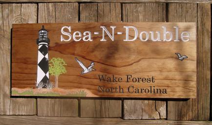 Custom Beach House Sign