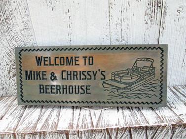 Custom Boat House Sign