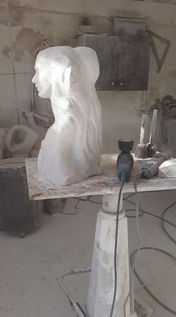 Escultura em execução