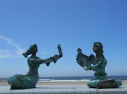 Diálogo entre duas esculturas