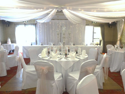 Chair covers at Longlands, Carnforth