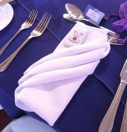 White pleated napkin