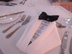 Dinner jacket napkin fold white