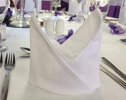 Bishops Hat folded linen napkin