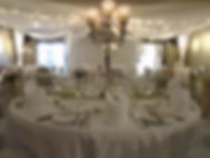Ceiling Drapes, Starlight backdrop at Longlands hotel Carnforth