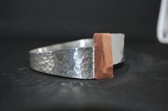Copper and Silver Bangle