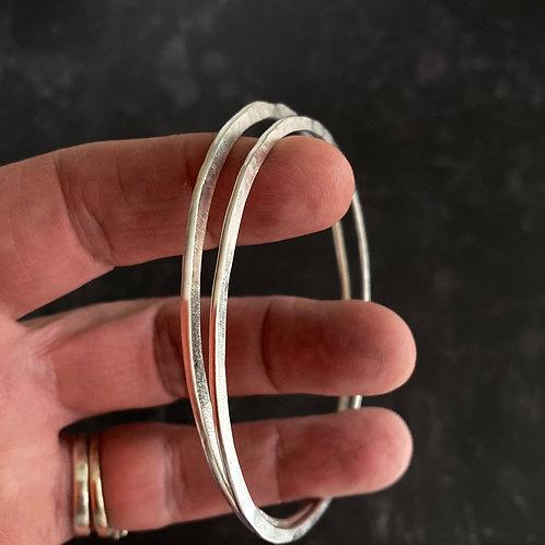 Sterling Silver Flat Bangle