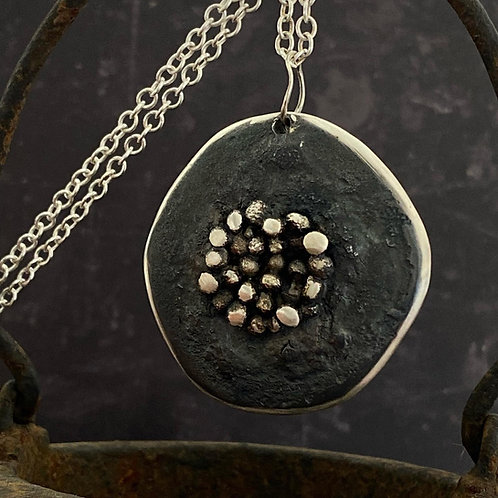 Sterling Silver Seed Pendant