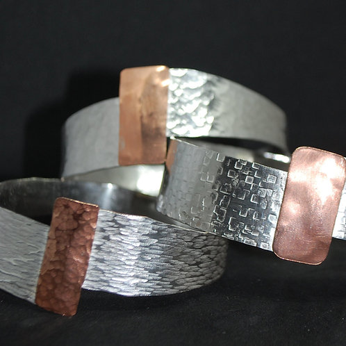 Sterling Silver and Copper Bangle