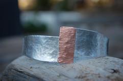 Silver and Copper Bangle