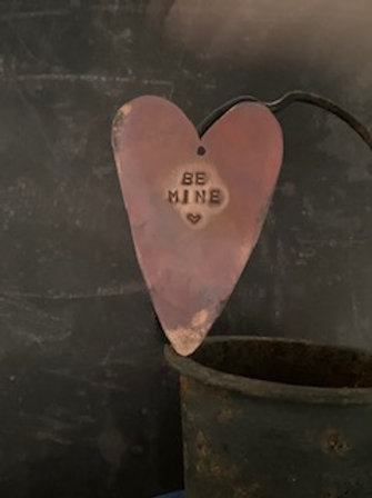 Copper Heart decoration - Be Mine 1