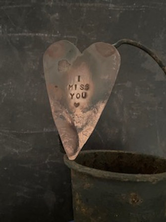 Copper Heart decoration - I miss you 1