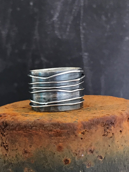 Wire-wrapped Sterling Silver Ring