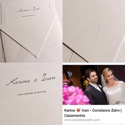 Lindo convite tradicional com um toque moderno e sofisticado, com papel off white e forro na cor nud