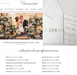 Nossa querida noivinha no blog Vestida de Noiva de Fernanda Floret 😃👏🏻 _marques