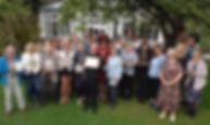 The Mayor of Borough of Harrogate joined winners of ths year's Harrogate in Bloom awards