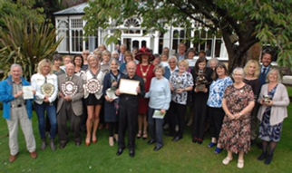 The Mayor of Borough of Harrogate joined winners of ths year's Harrogate in Bloom awards