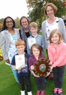 Members of Woodlands Community Garden with their award