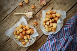 Rustic Garlic & Herb Croutons