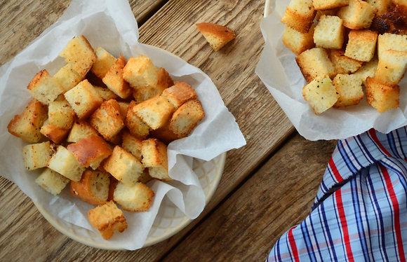 Rustic Herb & Garlic Croutons (DF)