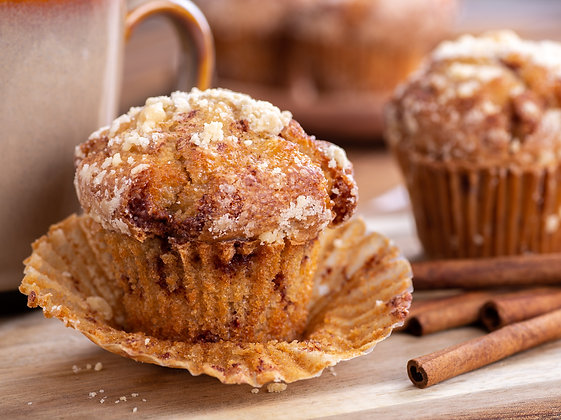 Cinnamon Pecan Streusel Muffins