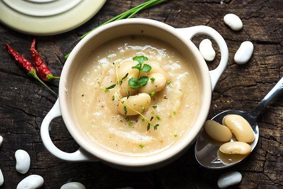 Tuscan White Bean & Roasted Garlic Soup (GF)