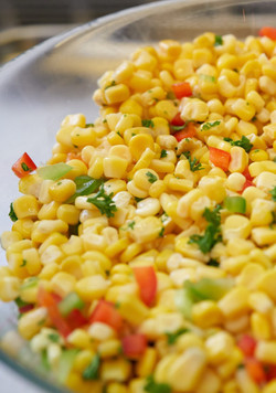 Confetti Corn with Herbed Chipotle Butter