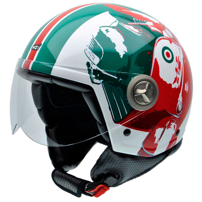 NZI Italian Colours Vespa Design Motorcycle Helmet