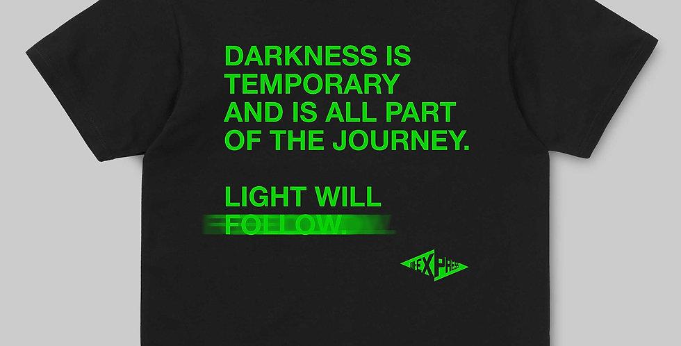 """LIGHT WILL FOLLOW"" 3rd ANNIVERSARY Black Tee"