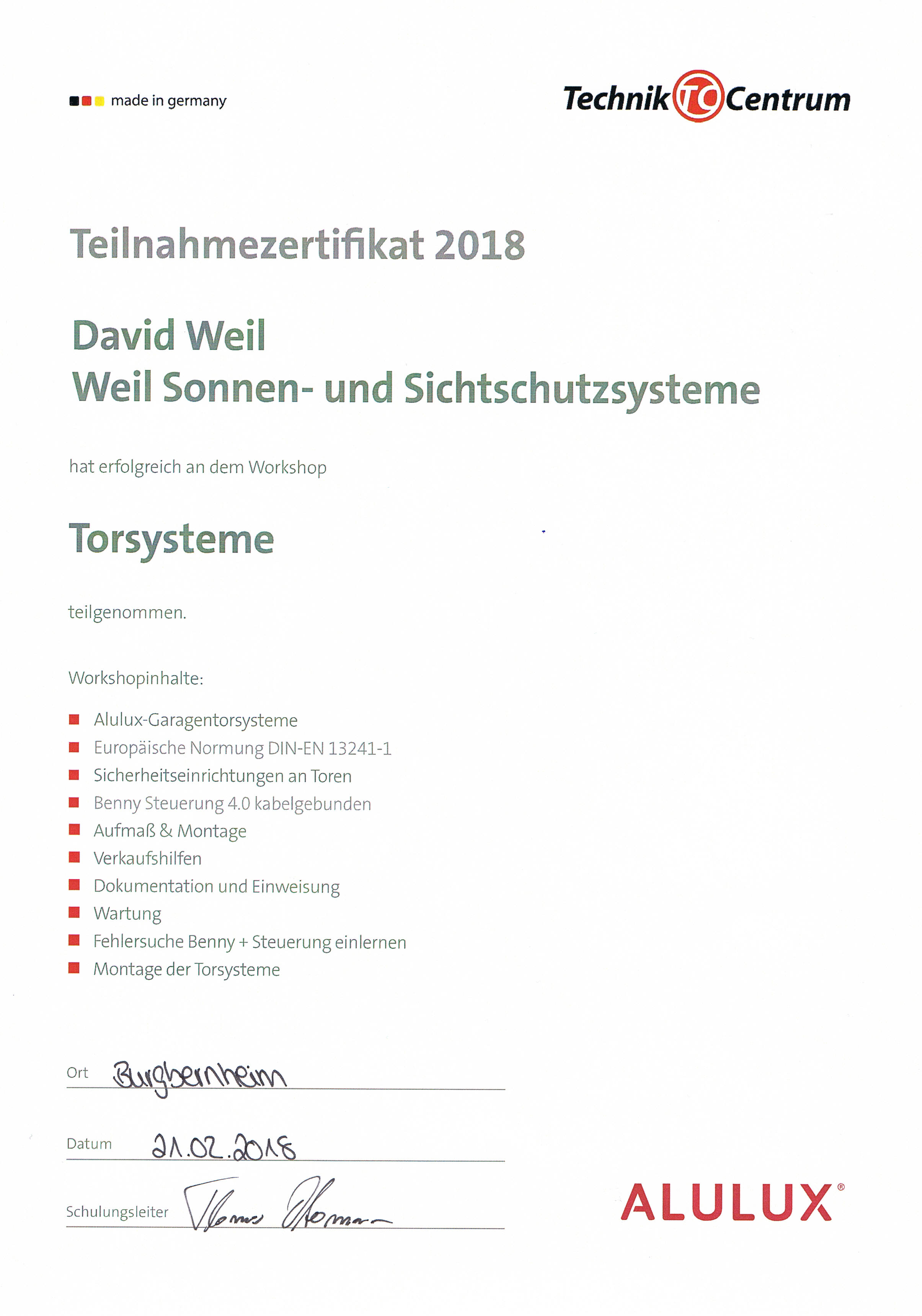 Torsysteme 18