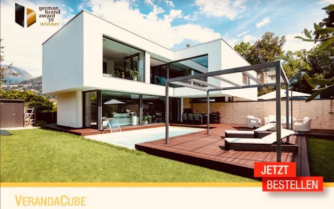 VerandaCube - ein Glasdach im Bauhaus Stil