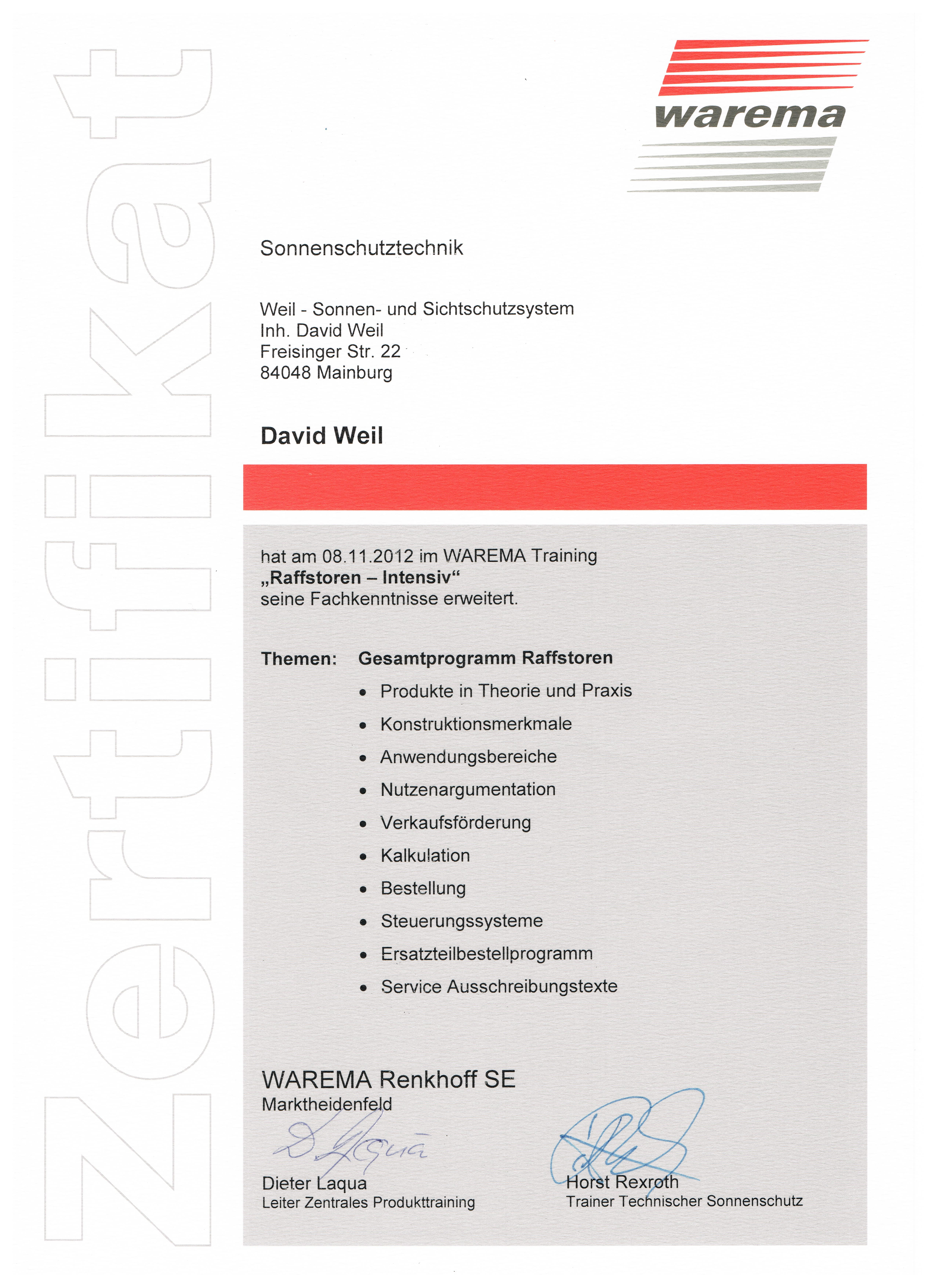 Zertifikat 9 001