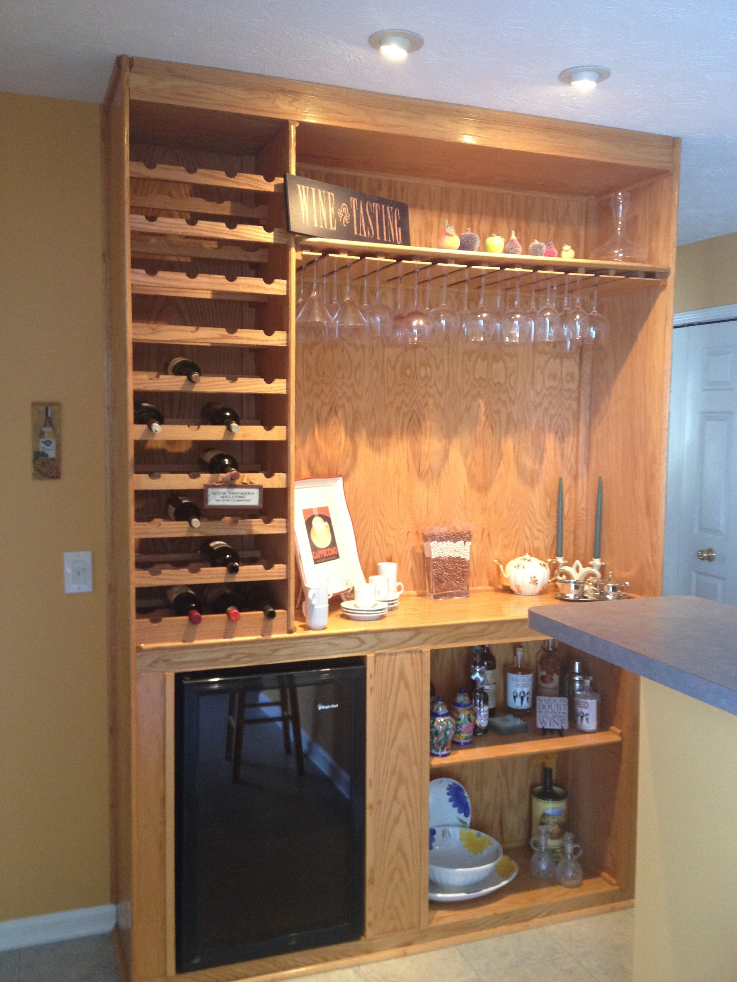 Storage for wines and glasses