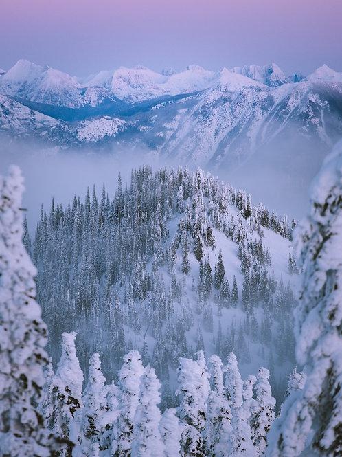 Snow Ghost Sunset