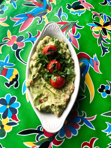 Guacamole w/ blistered tomatoes