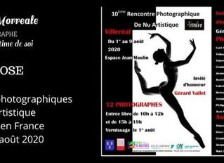 Exposition aux Rencontres photographiques de nu artistique à Villeréal en France