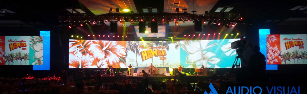 Convention, 90' Wide Curved Screen, Hawaii Convention Center