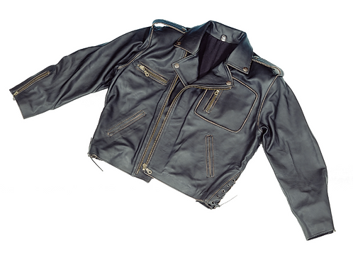 Boom Embossed Leather Jacket