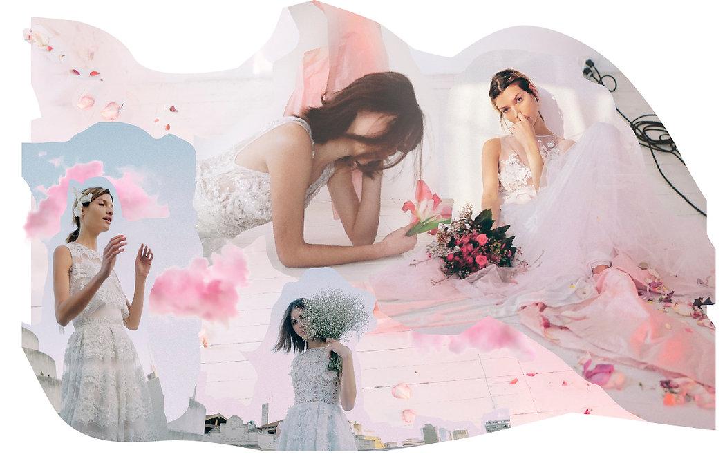 House of Matching Colours Bridal Collection. Hand made bridal dresses. Vestidos de novia a medida.